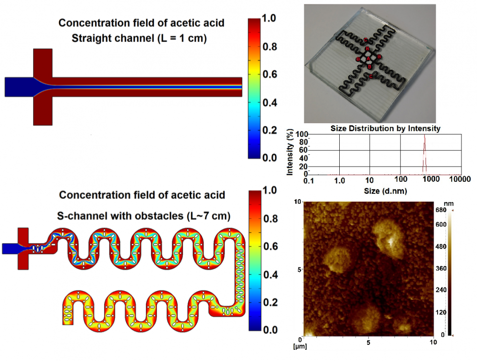 Development of a microfluidic device for synthesis of chitosan nanoparticles