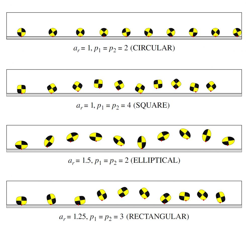 Granular Contact Interfaces with Non-Circular Particles